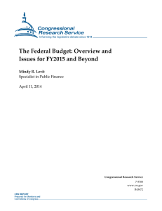 The Federal Budget: Overview and Issues for FY2015 and Beyond