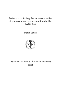 Fucus at open and complex coastlines in the Baltic Sea