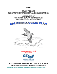 DRAFT STAFF REPORT SUBSTITUTE ENVIRONMENTAL DOCUMENTATION STATE WATER RESOURCES CONTROL BOARD