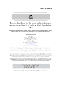 Proposed guidance for the music and entertainment 2005