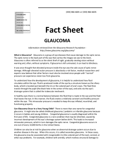 Fact Sheet  GLAUCOMA