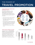 TRAVEL PROMOTION THE POWER OF TRAVEL PROMOTION STRENGTHENS ECONOMIC VITALITY
