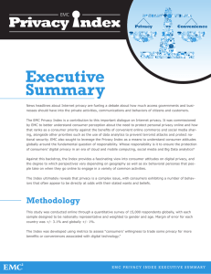 Executive Summary Privacy Convenience