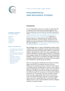 PHILOSOPHICAL AND RELIGIOUS STUDIES