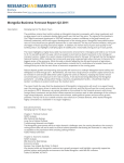 Mongolia Business Forecast Report Q2 2011 Brochure