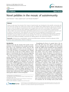 Novel pebbles in the mosaic of autoimmunity Open Access Carlo Perricone