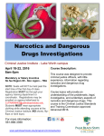 Narcotics and Dangerous Drugs Investigations April 18-22, 2016