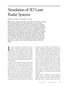 Simulation of 3D Laser Radar Systems
