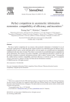 Perfect competition in asymmetric information economies: compatibility of efficiency and incentives 夡