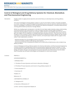 Control of Biological and Drug-Delivery Systems for Chemical, Biomedical,