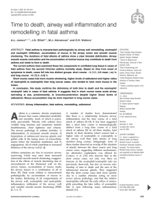 Time to death, airway wall inflammation and remodelling in fatal asthma