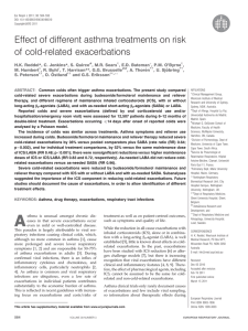 Effect of different asthma treatments on risk of cold-related exacerbations