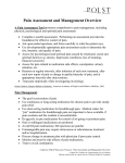 Pain Assessment and Management Overview