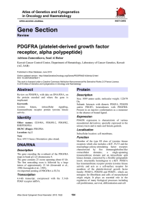 Gene Section PDGFRA (platelet-derived growth factor receptor, alpha polypeptide)