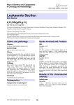Leukaemia Section t(11;20)(q23;q11) Atlas of Genetics and Cytogenetics in Oncology and Haematology