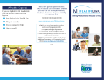MI HEALTH LINK What to Expect