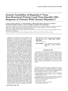 Genetic Variability of Hepatitis C Virus þ