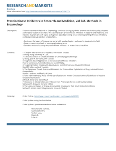 Protein Kinase Inhibitors in Research and Medicine, Vol 548. Methods... Enzymology Brochure