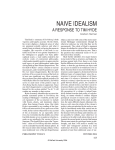 NAIVE IDEALISM A RESPONSE TO TIM HYDE Graham Harman