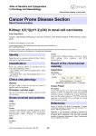 Cancer Prone Disease Section Kidney: t(X;1)(p11.2;p34) in renal cell carcinoma