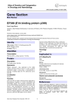 Gene Section EP300 (E1A binding protein p300) Atlas of Genetics and Cytogenetics