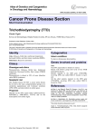 Cancer Prone Disease Section Trichothiodystrophy (TTD) Atlas of Genetics and Cytogenetics