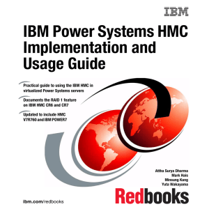 IBM Power Systems HMC Implementation and Usage Guide Front cover