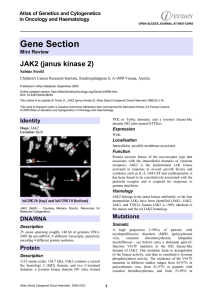 Gene Section JAK2 (janus kinase 2) Atlas of Genetics and Cytogenetics