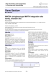 Gene Section WNT5A (wingless-type MMTV integration site family, member 5A)