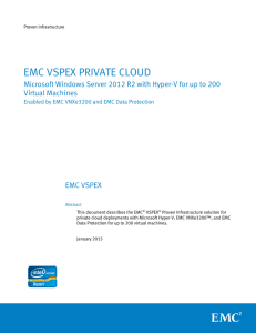 EMC VSPEX PRIVATE CLOUD Virtual Machines EMC VSPEX