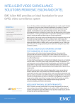INTELLIGENT VIDEO SURVEILLANCE SOLUTIONS FROM EMC ISILON AND DVTEL