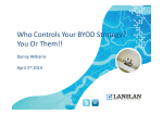 Who Controls Your BYOD Strategy?  You Or Them!! Danny Williams April 3