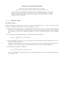 Exercises in Statistical Mechanics