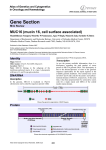 Gene Section MUC16 (mucin 16, cell surface associated) in Oncology and Haematology