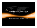 Cancer Wall Memorial Fremont Service Builders Club
