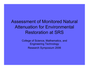 Assessment of Monitored Natural Attenuation for Environmental Restoration at SRS