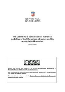 The Central Asia collision zone: numerical present-day kinematics