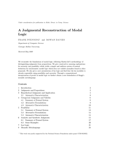 A Judgmental Reconstruction of Modal Logic