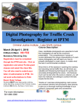 Digital Photography for Traffic Crash Investigators   Register at IPTM