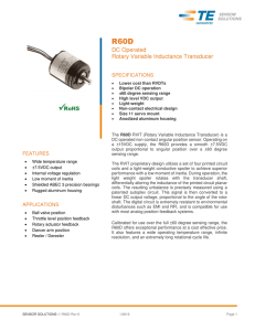 R60D DC Operated Rotary Variable Inductance Transducer
