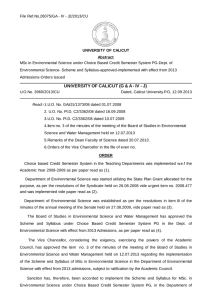 File Ref.No.26075/GA - IV - J2/2013/CU  UNIVERSITY OF CALICUT