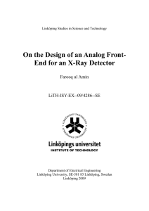 On the Design of an Analog Front- Farooq ul Amin LiTH-ISY-EX--09/4286--SE