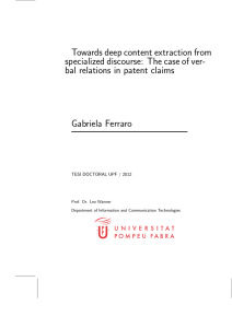 Towards deep content extraction from specialized discourse: The case of ver-