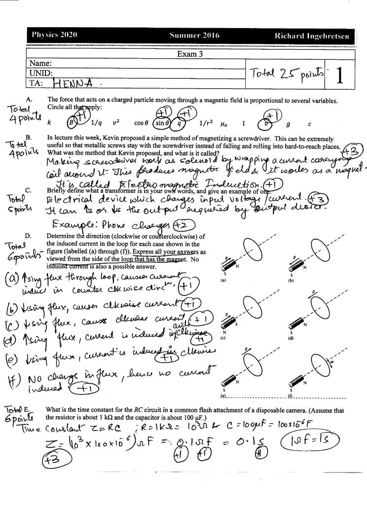 Uf Summer 2020.1 E W 2 Pb Jo Physics 2020 Summer 2016 Richard