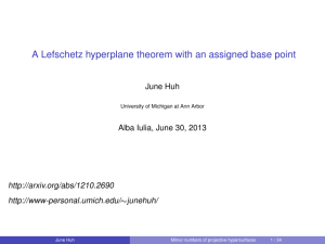 A Lefschetz hyperplane theorem with an assigned base point