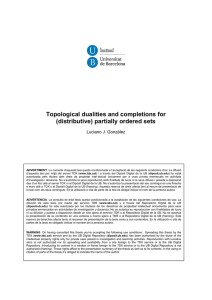 Topological dualities and completions for (distributive) partially ordered sets Luciano J. González