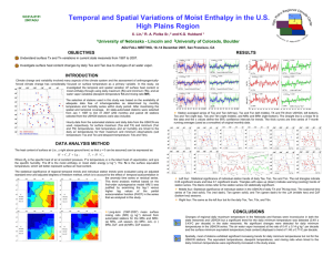 Temporal and Spatial Variations of Moist Enthalpy in the U.S.