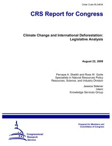Climate Change and International Deforestation: Legislative Analysis