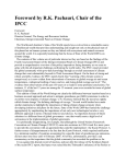 Foreword by R.K. Pachauri, Chair of the IPCC
