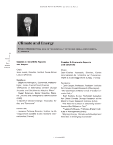 Climate and Energy s M ,